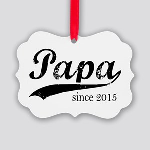 Papa since 2015 Ornament