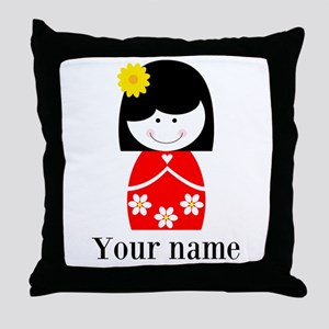 Girl (p) Throw Pillow