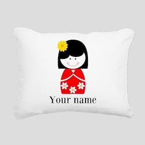 Girl (p) Rectangular Canvas Pillow