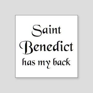 """saint benedict Square Sticker 3"""" x 3"""""""