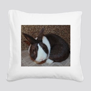 Chocolate Dutch Square Canvas Pillow