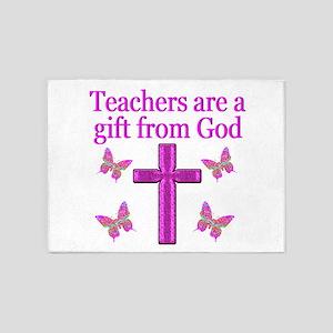 TEACHER GIFT 5'x7'Area Rug