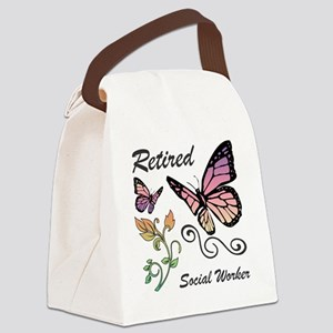 Retired Social Worker Canvas Lunch Bag