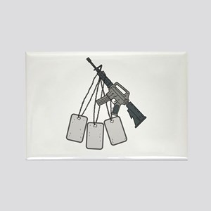 M4 Carbine Dog Tags Hanging Drawing Magnets