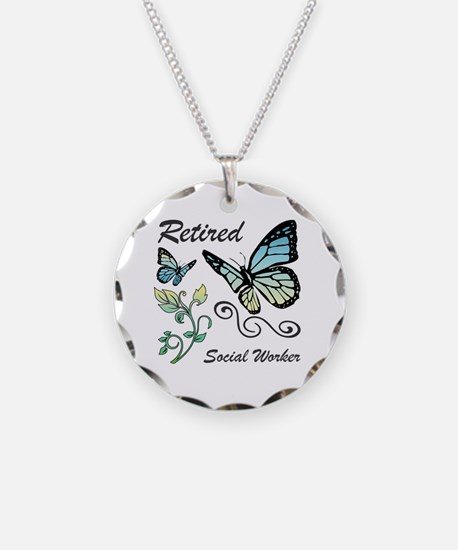 Retired Social Worker Necklace