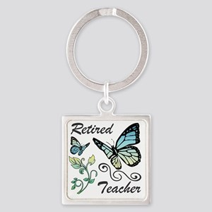 Retired Teacher Square Keychain