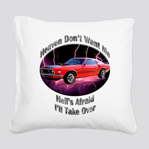 Ford Mustang Mach 1 Square Canvas Pillow