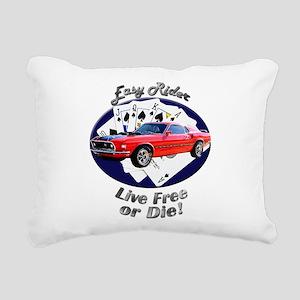 Ford Mustang Mach 1 Rectangular Canvas Pillow