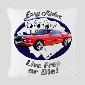 Ford Mustang Mach 1 Woven Throw Pillow