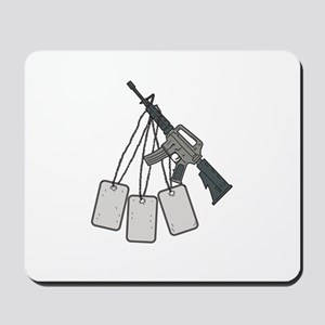 M4 Carbine Dog Tags Hanging Drawing Mousepad