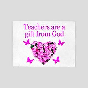TEACHER LOVE 5'x7'Area Rug