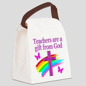 TEACHER JOY Canvas Lunch Bag