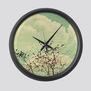Birds of a Feather Large Wall Clock