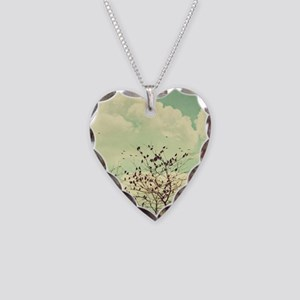 Birds of a Feather Necklace Heart Charm