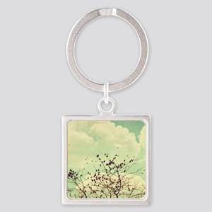 Birds of a Feather Square Keychain