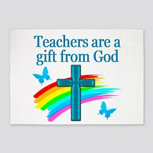 TEACHER FAITH 5'x7'Area Rug