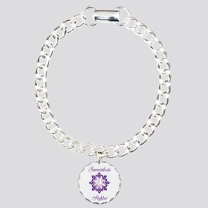 Sarcoidosis Fighter Charm Bracelet, One Charm
