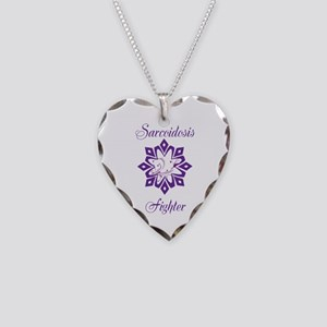 Sarcoidosis Fighter Necklace Heart Charm