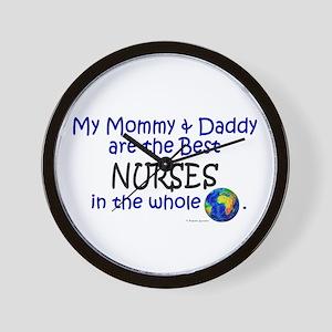 Best Nurses In The World Wall Clock