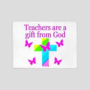 BEST TEACHER 5'x7'Area Rug