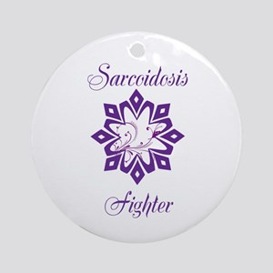 Sarcoidosis Fighter Round Ornament