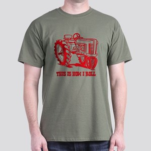 This Is How I Roll Tractor Red Dark T-Shirt