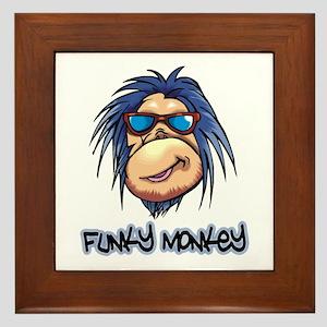 Funky Monkey Framed Tile