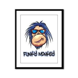 Funky Monkey Framed Panel Print