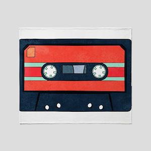 Red Cassette Throw Blanket