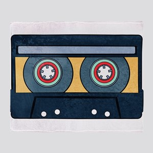 Orange Cassette Throw Blanket