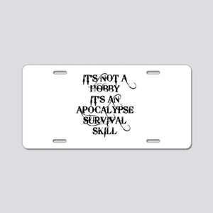 SKILLS Aluminum License Plate