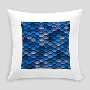 Mermaid Scales Everyday Pillow
