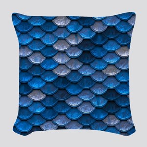 Mermaid Scales Woven Throw Pillow