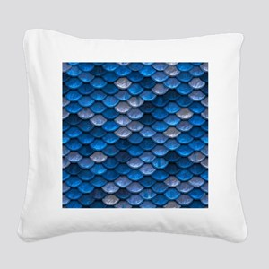Mermaid Scales Square Canvas Pillow