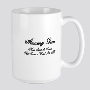 AMAZING GRACE, HOW SWEET THE SOUND, THA Large Mug