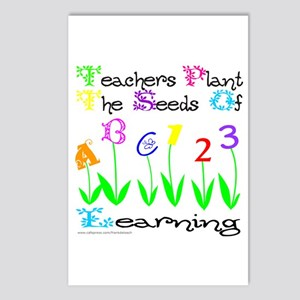TEACHERS PLANT THE SEEDS OF LEARNING Postcards (Pa
