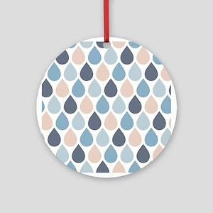 Raindrops Round Ornament