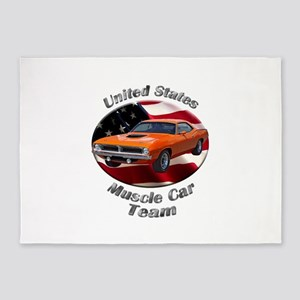 Plymouth Barracuda 5`x7`Area Rug