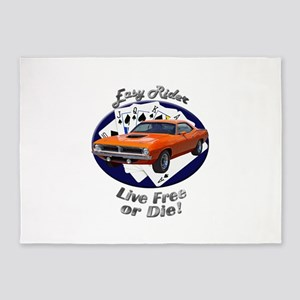 Plymouth Barracuda 5`x7`Area Rug