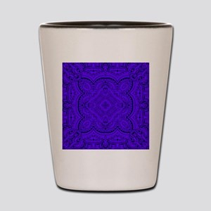Lavender, purple, detailed, design Shot Glass