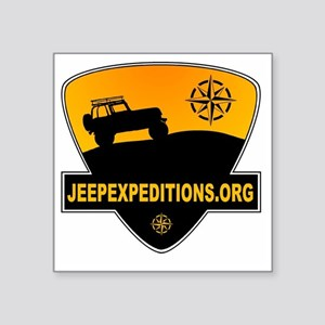 "Jeep Expeditions Logo Square Sticker 3"" x 3"""