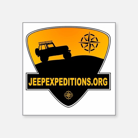 """Jeep Expeditions Logo Square Sticker 3"""" x 3"""""""