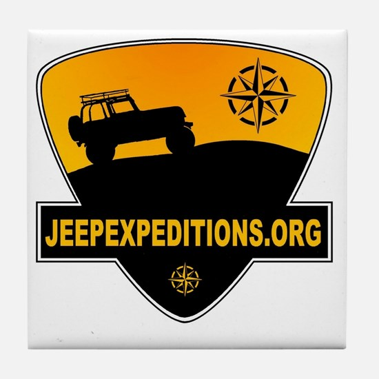 Jeep Expeditions Logo Tile Coaster