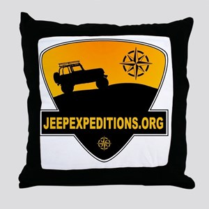 Jeep Expeditions Logo Throw Pillow