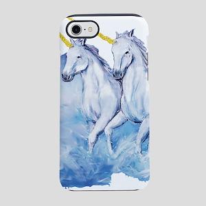 Beautiful Unicorns with Gold iPhone 8/7 Tough Case