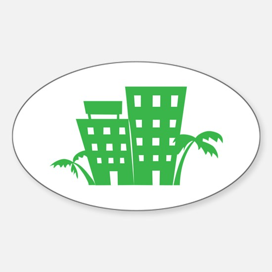 Palms & Buildings Decal
