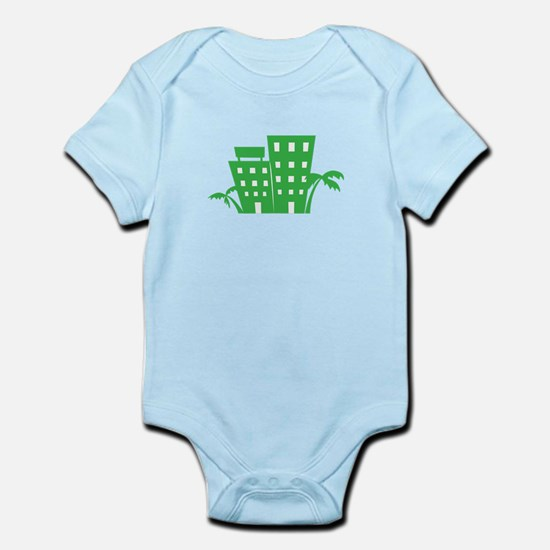 Palms & Buildings Body Suit