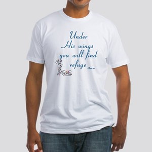 UNDER HIS WINGS YOU WILL FIND REFUG Fitted T-Shirt