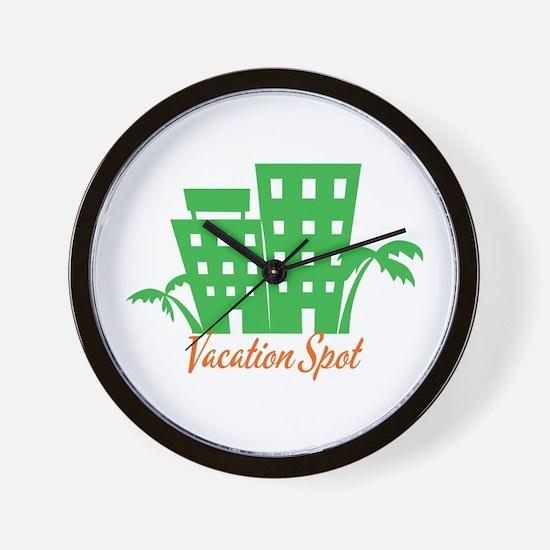 Vacation Spot Wall Clock