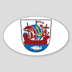 Bremerhafen Coat of Arms Oval Sticker